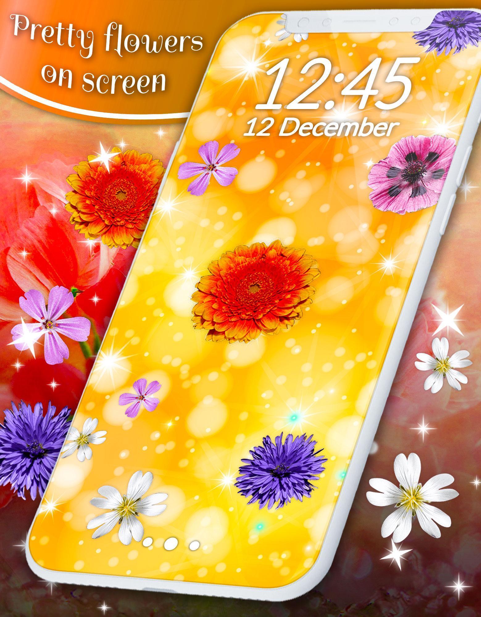 Pretty Flowers Touch on Screen Prank скриншот 6