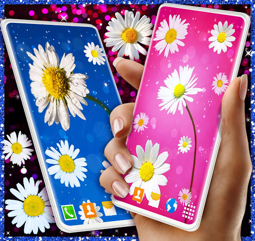 3D Daisy Live Wallpaper 🌼 Spring Field Themes screenshot 1