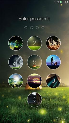Fireflies lockscreen 3 تصوير الشاشة