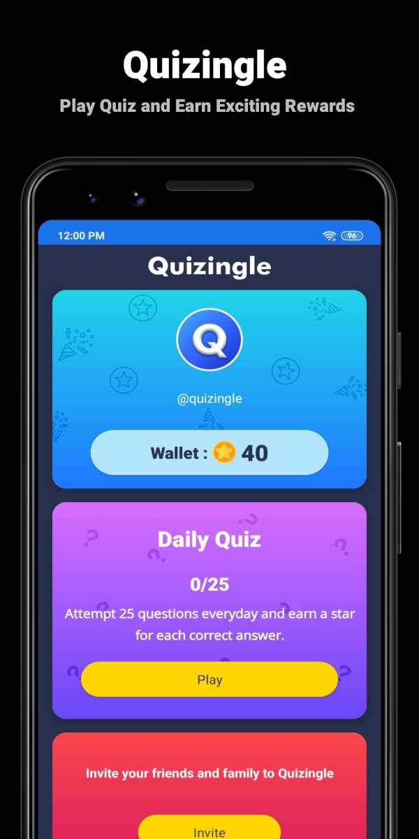 Quizingle - Play Quiz and Earn Exciting Rewards स्क्रीनशॉट 1