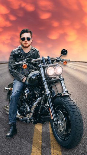 Man Bike Rider Photo Editor - photo frame screenshot 1