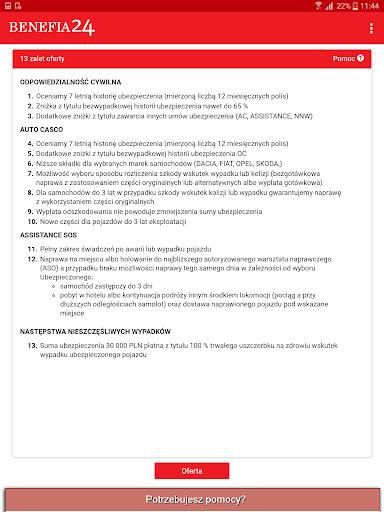 Ubezpieczenie OC AC Benefia 24 screenshot 15