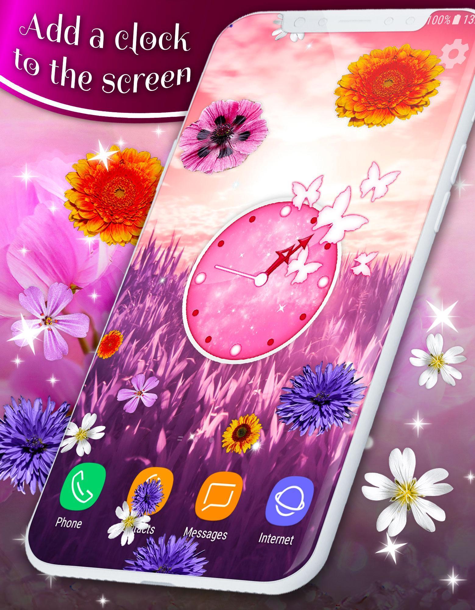 Pretty Flowers Touch on Screen Prank скриншот 1