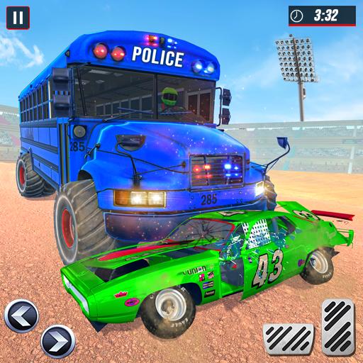 US Police Bus Demolition Derby Crash Stunts 2021 icon