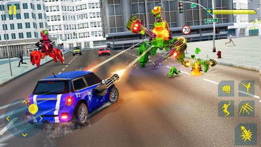 Cat Robot Car Game - Car Robot War 4 تصوير الشاشة