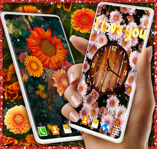 Autumn Flowers 4K Live Wallpaper ❤️ Forest Themes скриншот 4