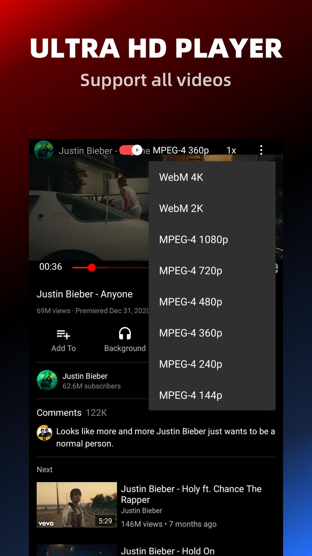 Pure Tuber - No ADs and Free Tube Premium screenshot 4