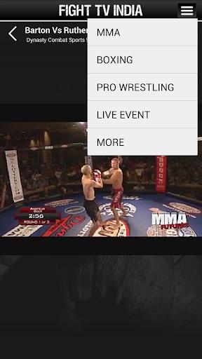 Fight TV India, 4 تصوير الشاشة