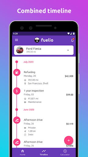 Fuelio: gas log, costs, car management, GPS routes screenshot 2