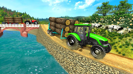 Real Tractor Trolley Cargo Farming Simulation Game screenshot 4