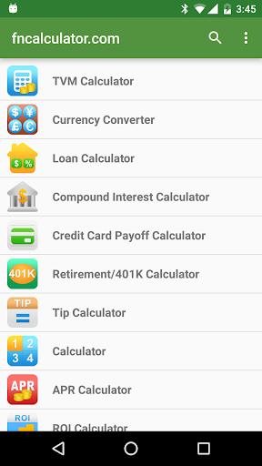 Financial Calculators screenshot 2