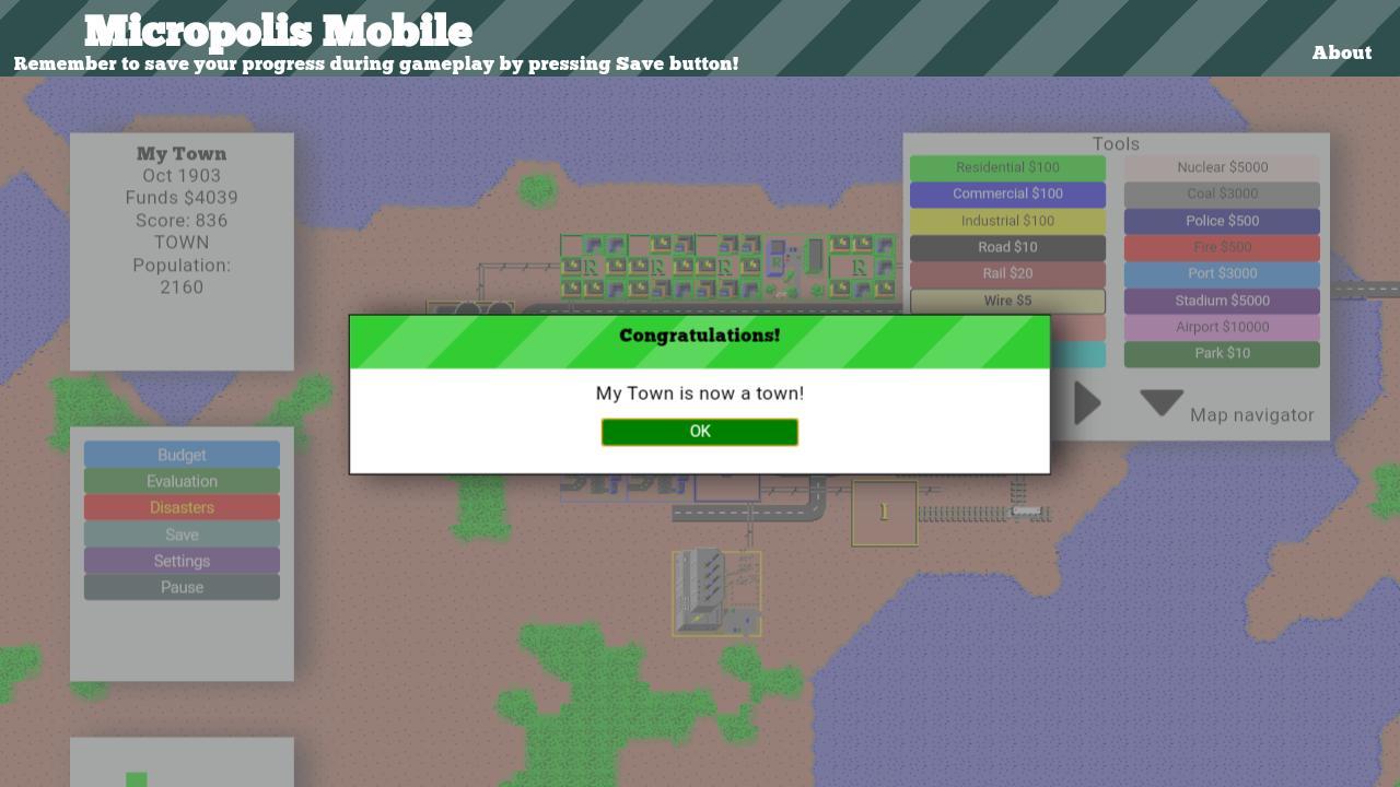 Micropolis Mobile 5 تصوير الشاشة