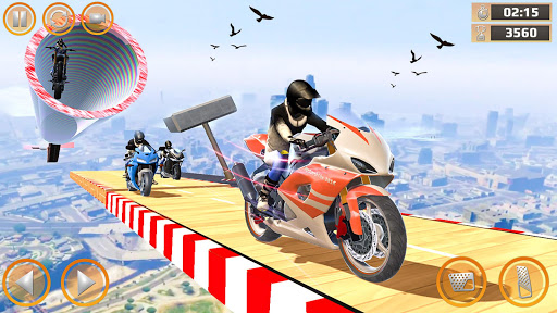 Mega Ramp Impossible Tracks Stunt Bike Rider Games screenshot 2