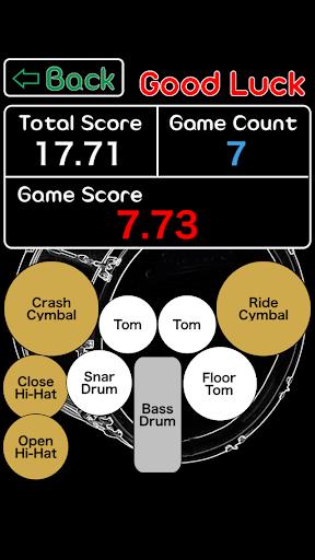 Drums Perfect Pitch - Rhythm sound practice game. 1 تصوير الشاشة