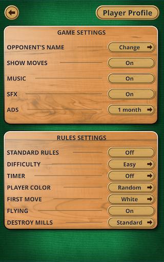 Nine men's Morris - Mills - Free online board game 8 تصوير الشاشة