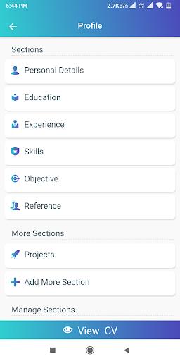 Resume Builder App Free CV maker 2021 - PDF Format screenshot 4