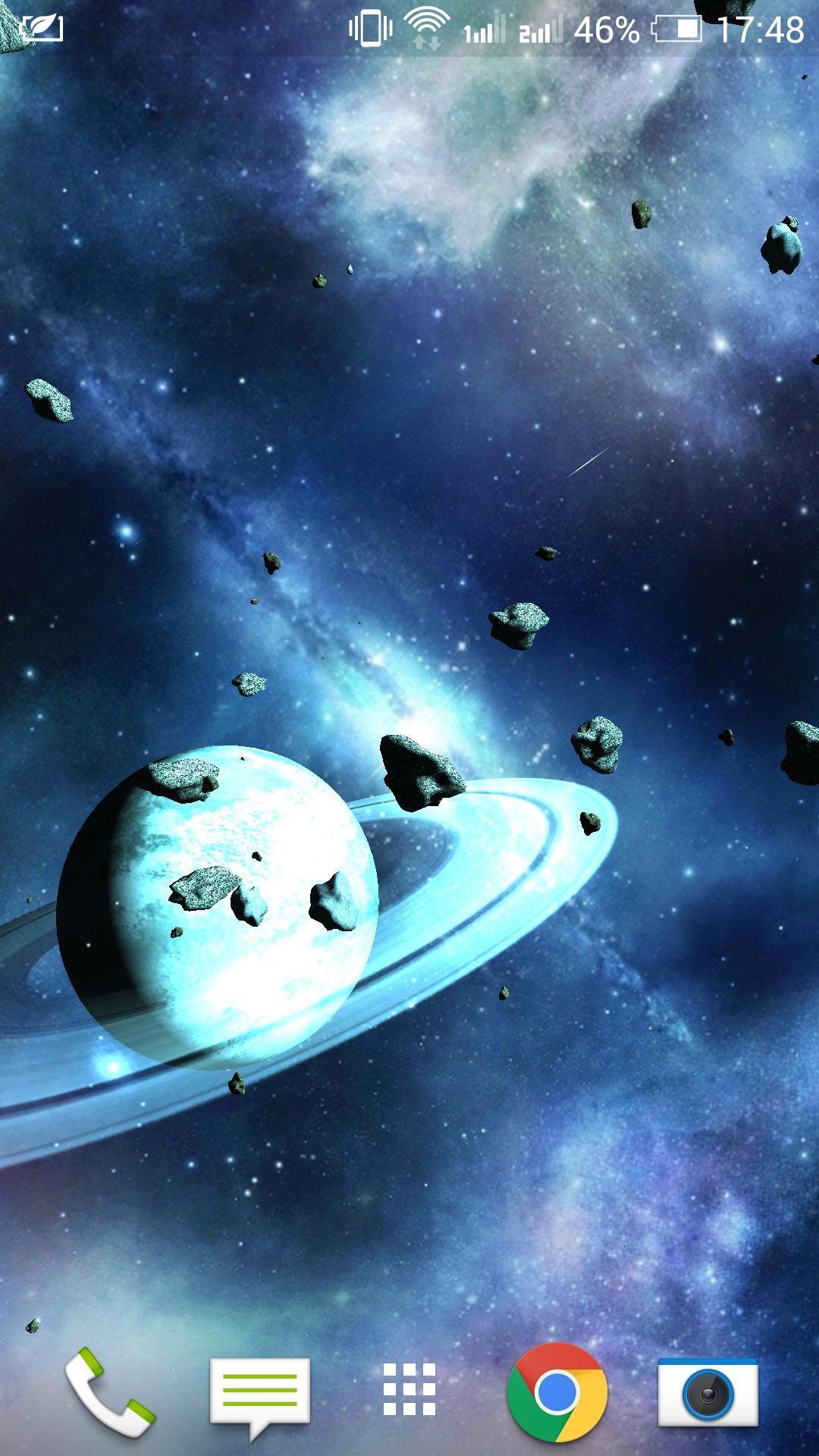 Asteroids 3D live wallpaper 8 تصوير الشاشة