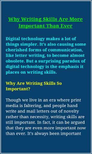 Writing Skills screenshot 5
