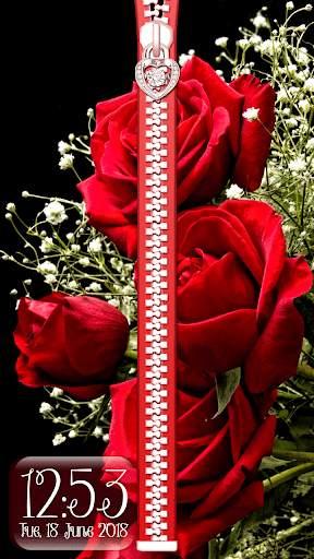 Rose Theme Zipper Lock Screen screenshot 6