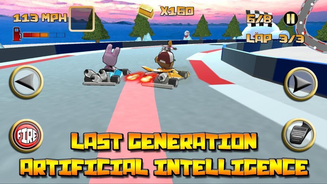 Kartoon Racing Driver simulator 4 تصوير الشاشة