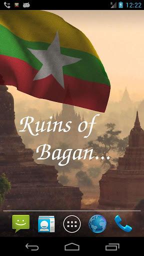 Myanmar Flag Live Wallpaper screenshot 3