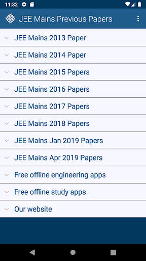 JEE Mains Previous Papers Free 1 تصوير الشاشة