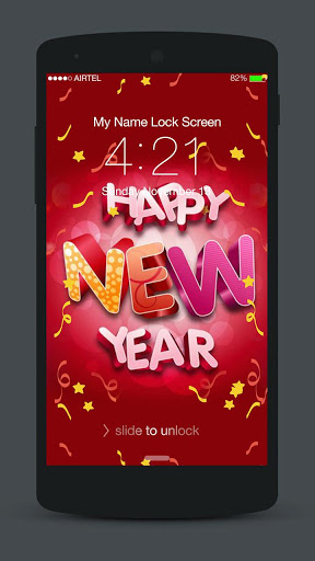 New Year Neon 2020 Lock Screen screenshot 1