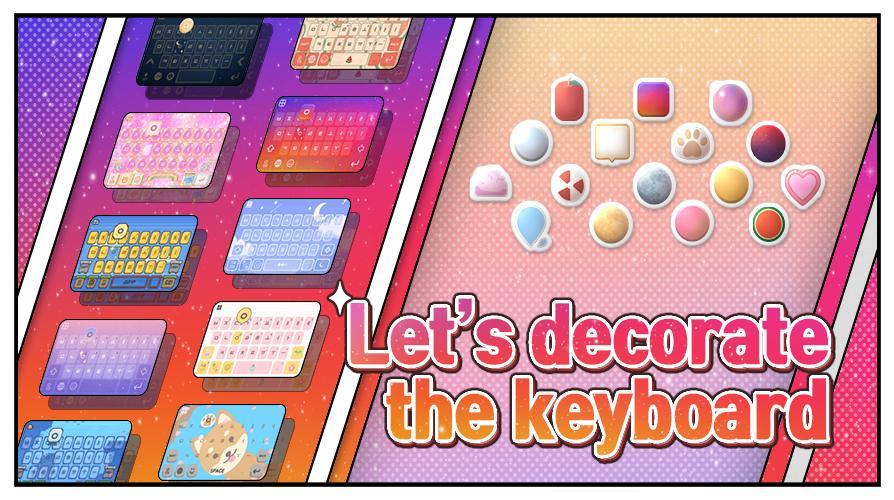 Deco Keyboard - Phone Deco, wallpapers, theme screenshot 1