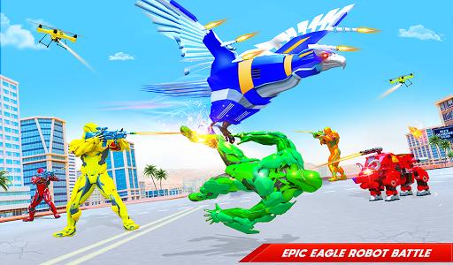 Flying Police Eagle Bike Robot Hero: Robot Games screenshot 6