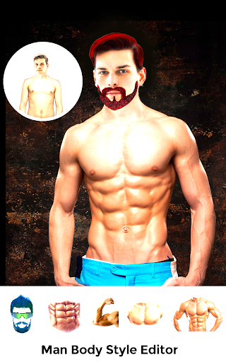 Men Body Styles SixPack tattoo - Photo Editor app screenshot 1