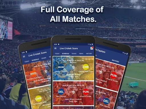 Live Score for IPL 2020 - Live Cricket Score 5 تصوير الشاشة