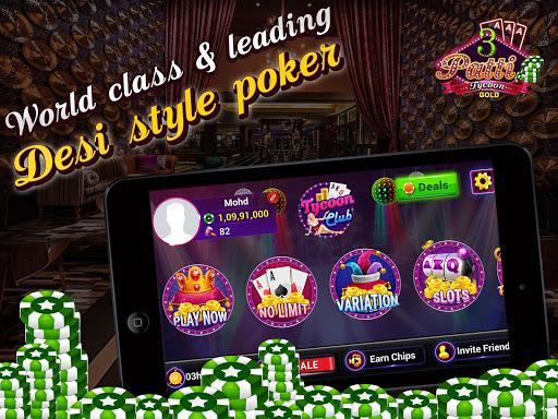 Teen Patti Tycoon Gold Indian Poker 1 تصوير الشاشة