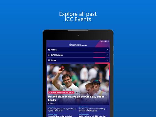 ICC - Live International Cricket Scores & News 13 تصوير الشاشة