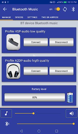 Bluetooth Music  Widget Battery TWS Pods FREE 12 تصوير الشاشة