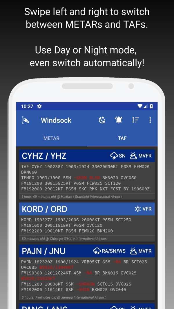 Windsock - Automatic METAR/TAF screenshot 2