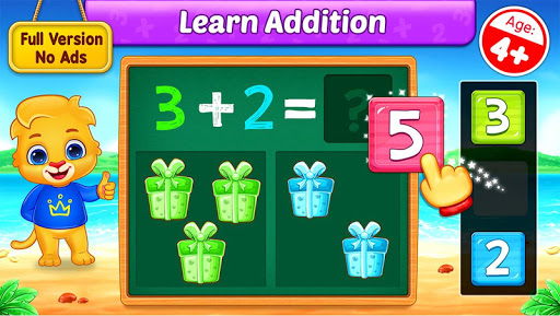 Math Kids - Add, Subtract, Count, and Learn 1 تصوير الشاشة