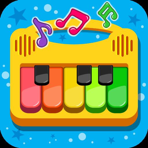 أطفال البيانوالموسيقى والأغاني أيقونة