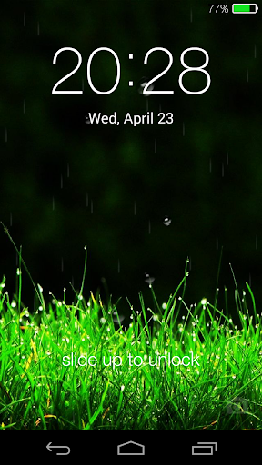 Galaxy rainy lockscreen screenshot 16