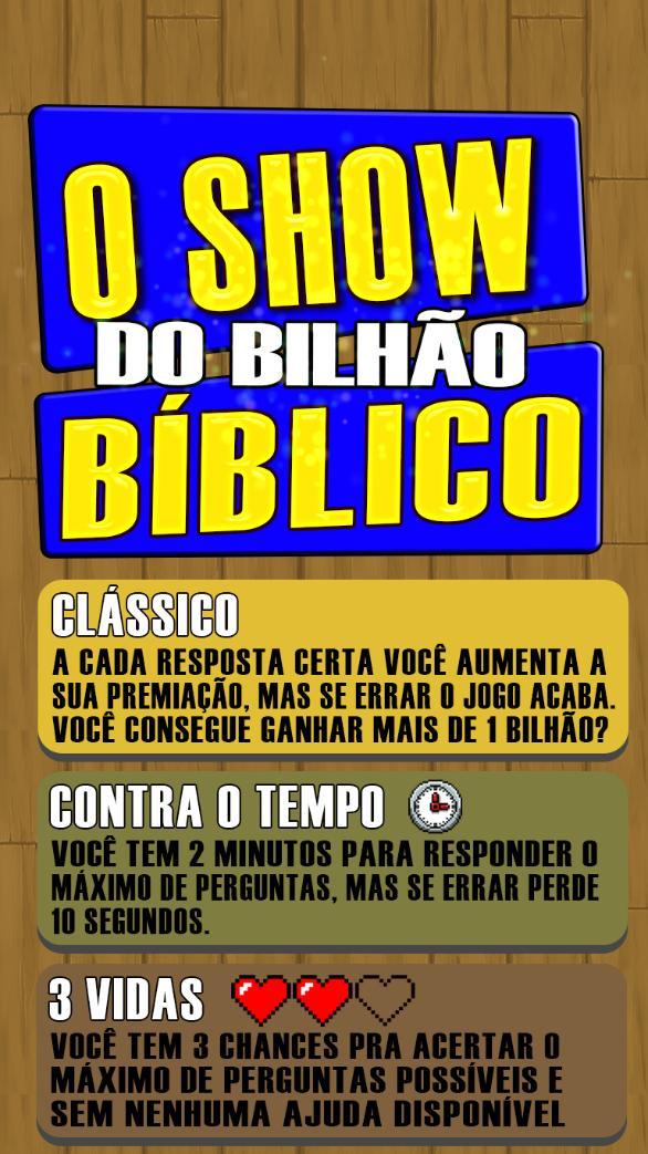 O Show do bilhão Bíblico 2020 Perguntas da Bíblia screenshot 4