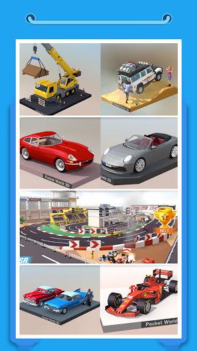 Pocket World 3D - Assemble models unique puzzle screenshot 5