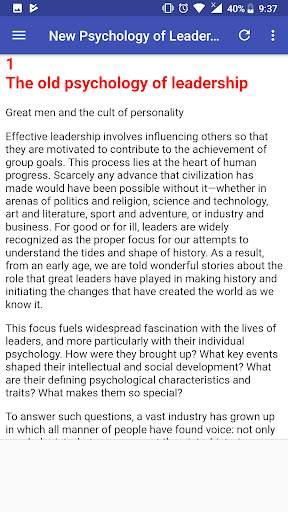New Psychology of Leadership screenshot 8