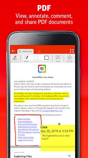 SmartOffice - View & Edit MS Office files & PDFs screenshot 5