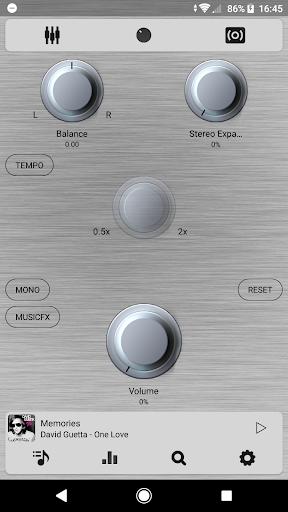 Poweramp v3 skin simple light screenshot 4