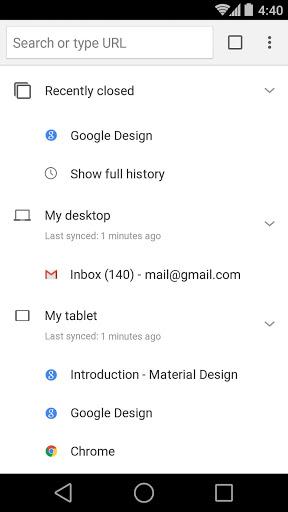 Chrome Beta स्क्रीनशॉट 4