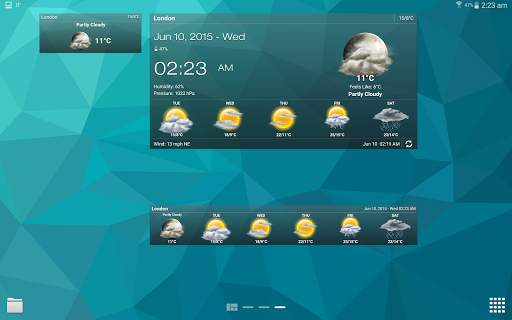 Weather & Clock Widget for Android screenshot 12