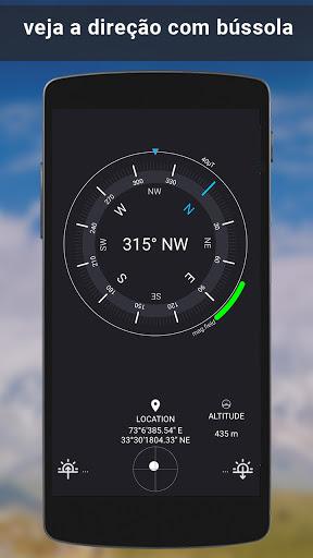 GPS satélite - viver terra mapas E voz navegação screenshot 6