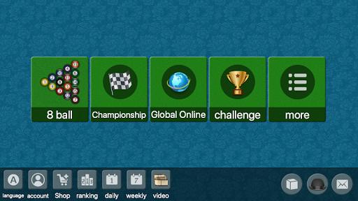 8 ball billiards Offline / Online pool free game screenshot 1