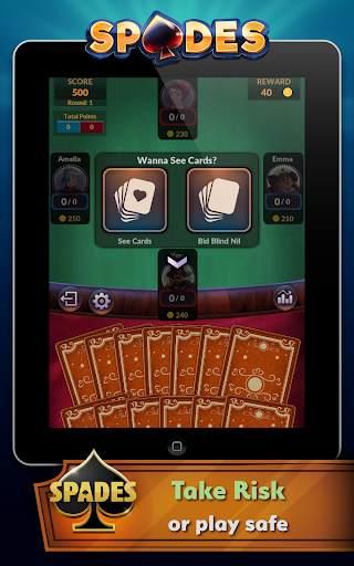 Spades - Offline Free Card Games screenshot 8