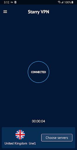 Starry VPN - Free VPN Proxy & Unlimited Secure VPN screenshot 1