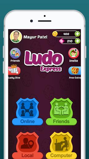Ludo Express : Online Ludo Game, Ludo Offline 2021 स्क्रीनशॉट 1